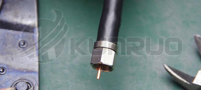 75-7电缆n转f接头接法